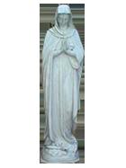 Virgen Maria en fibra de vidrio